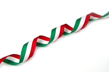the italian flag: la cinta con los colores de la bandera italiana