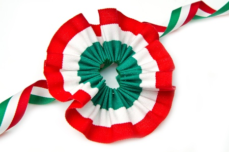 cockade  with italian flag color  photo