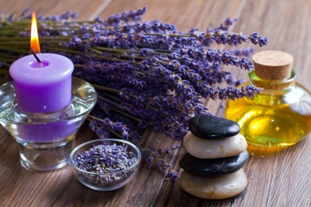 lavender and stones Stock Photo - 9776904