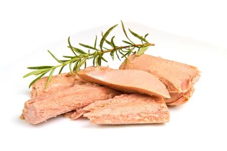 Tuna fish samodzielnie na biaÅ'ym tle Zdjęcie Seryjne