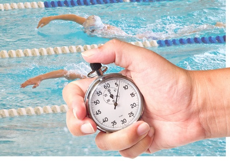 close up a chronometer to measure swimming performances