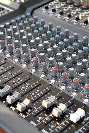 a mixer duing a concert photo