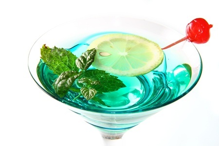 sweet vermouth: cocktail with fresh leaf of mint