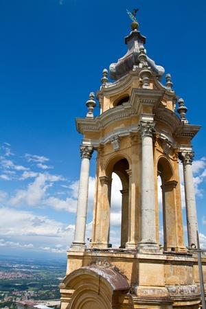 The baroque Basilica di Superga church on the Turin hill, Italy  photo