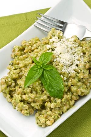 spelled salad with fresh pesto Stock Photo - 10069328