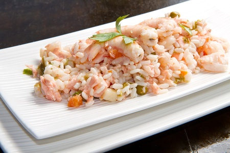 rice with salmon and prawns Stock Photo - 10304086
