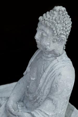 budda: Face of budda statue, Black and white