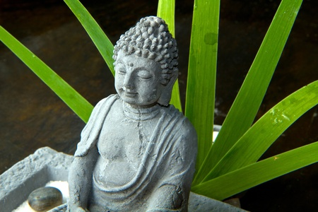 Portrait of a Buddha statue photo