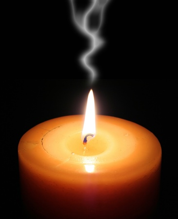 glow in the dark: candle