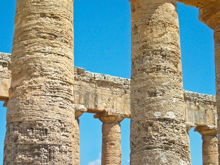 The Hellenic temple  at Selinunte in Sicily in Southern Italy  photo