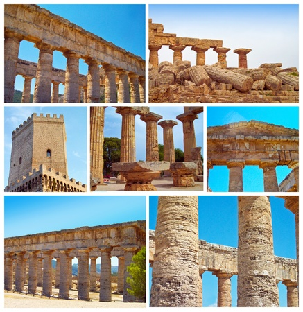 hellenic: The Hellenic temple  at Selinunte in Sicily in Southern Italy