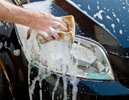 valet: washing a car