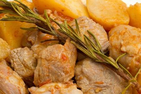 meat stew with potato  photo