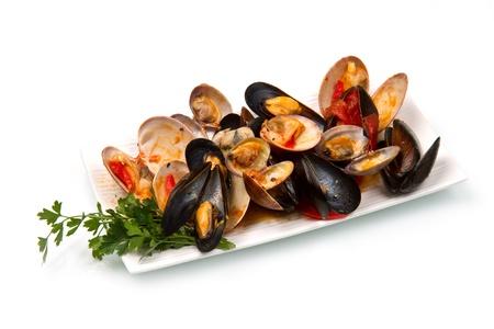 owoce morza: danie z mieszanki mięczaka Zdjęcie Seryjne
