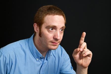 dudando: dudando de hombre Foto de archivo