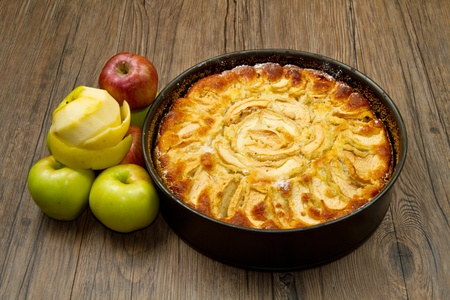 afters: Apple Tart  with fresh apple on table