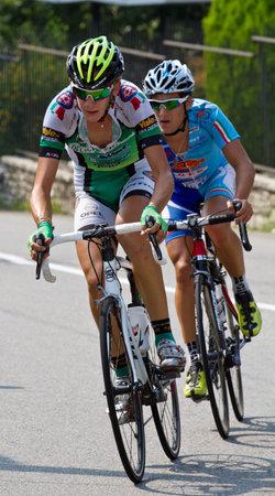 razas de personas: carrera ciclista