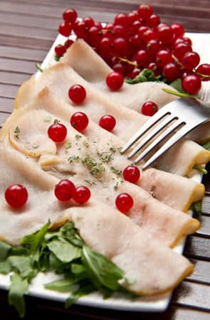 swordfish carpaccio Stock Photo - 10627641