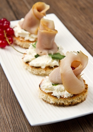swordfish canape Stock Photo - 10627633