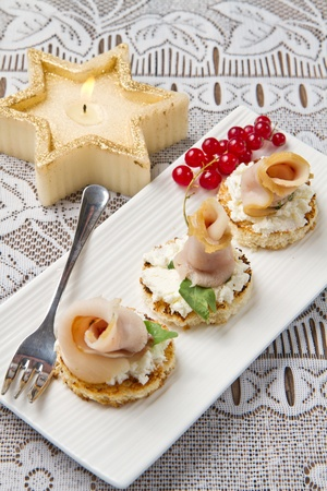 swordfish canape Stock Photo - 10627653