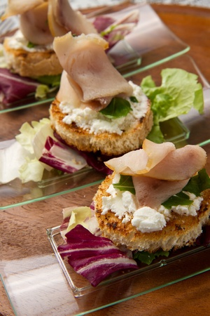 swordfish canape Stock Photo - 10627649