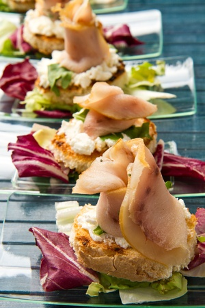 swordfish canape photo
