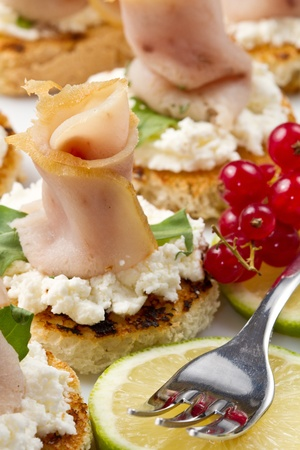 swordfish canape Stock Photo - 10627646