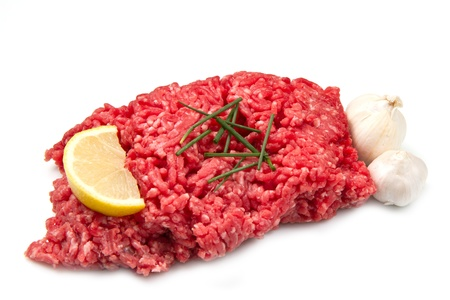 고기의: 원시 다진 고기 스톡 사진