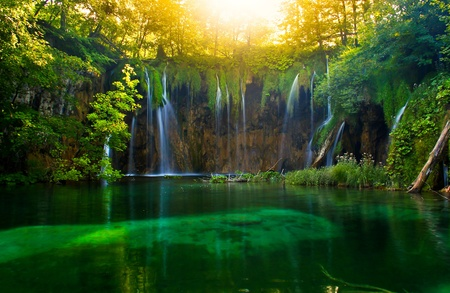 plitvice park in Croatia 스톡 콘텐츠