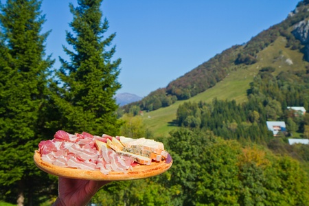 air dried salami: cold meats