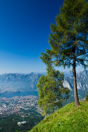 aereal: Lecco, aereal view