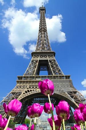 Tour Eiffel w Paryżu Zdjęcie Seryjne