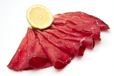 italian cold cuts called  Bresaola Stock Photo - 10976289