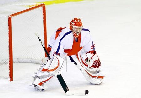 hokej na lodzie bramkarz