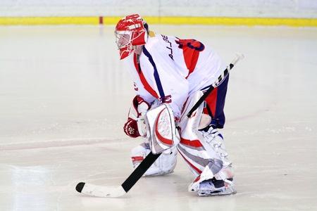 hokej na lodzie bramkarza