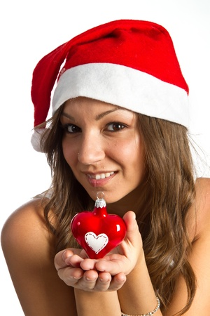 Beautiful Young Happy Christmas Woman Stock Photo - 11105112