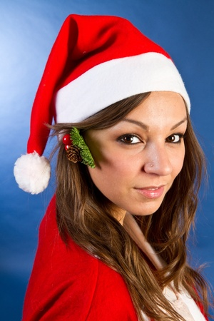 Beautiful Young Happy Christmas Woman Stock Photo - 11104990