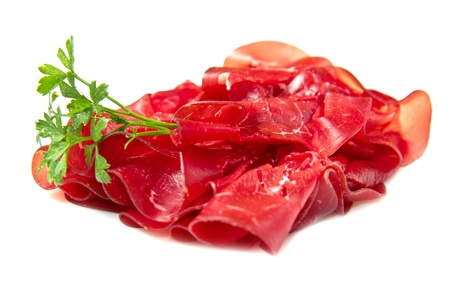 italian cold cuts called Bresaola  Stock Photo
