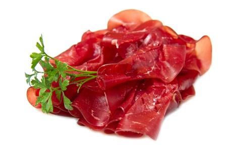 italian cold cuts called Bresaola  photo