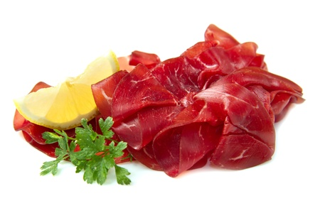 italian cold cuts called Bresaola  photo
