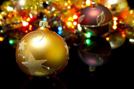 Christmas decoration with shiny glare Stock Photo - 11266340