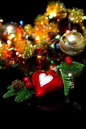 schittering: Kerstversiering met glanzende schittering