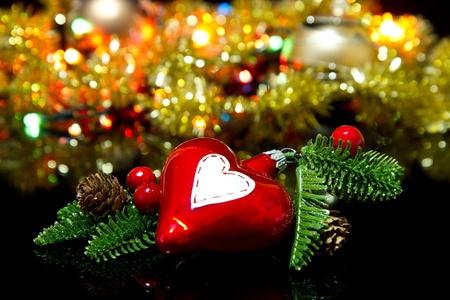 glare: Christmas decoration with shiny glare  Stock Photo