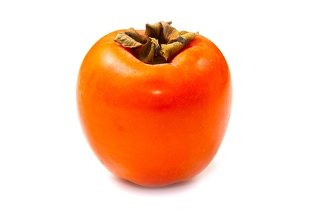 persimmon fruit on white background Stock Photo - 11547354