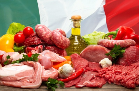 italian raw meat photo
