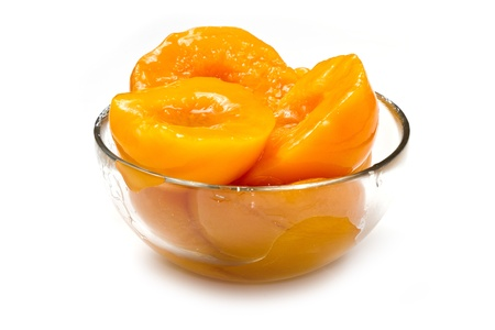 Peach halves in light syrup photo