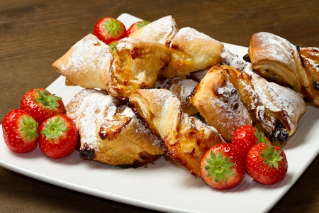 italian dessert with fruit  jam and raisins Stock Photo - 11591875