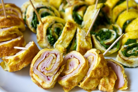 roll with ham and rocket photo