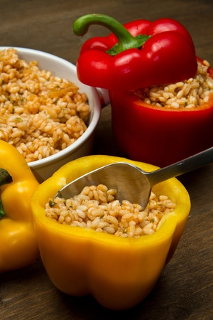 peppers stuffed with rice Banco de Imagens