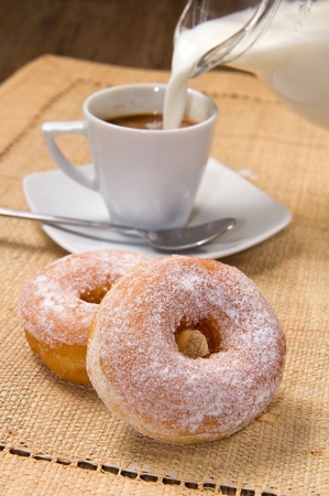 capuccino: donuts with coffee